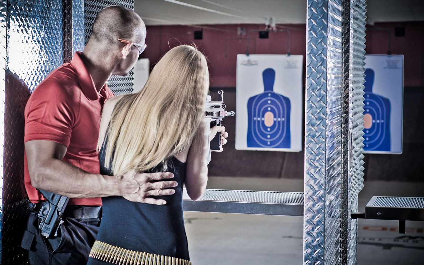 Gun range instruction