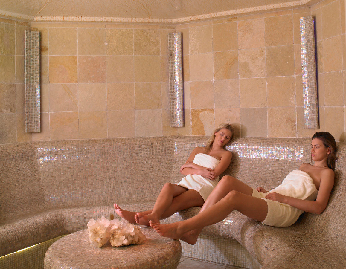 Crystalized Steam Room