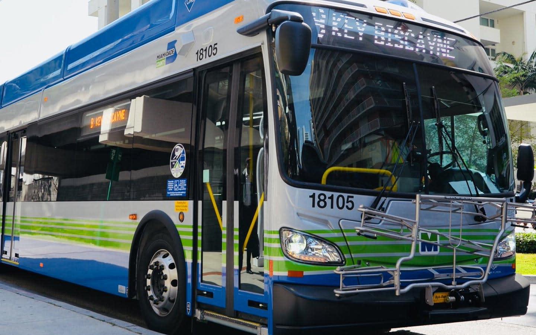 metrobus in downtown miami area/brickell area, fl