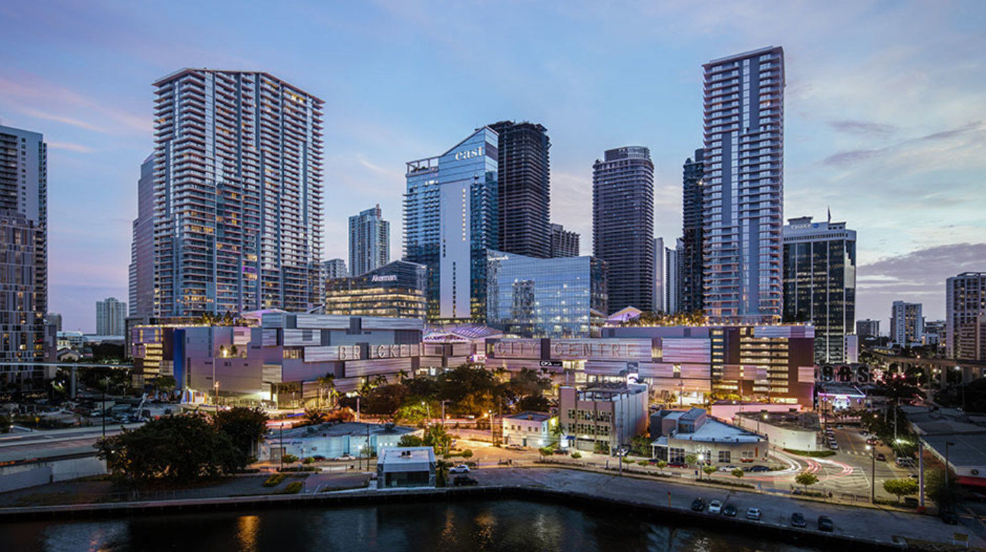 Aerial view of Brickell City Centre