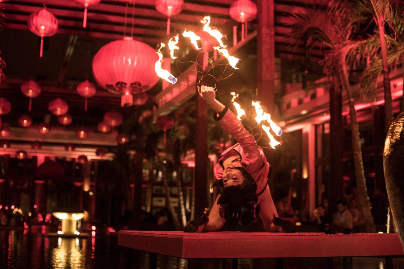 Bazar asiatique de nuit