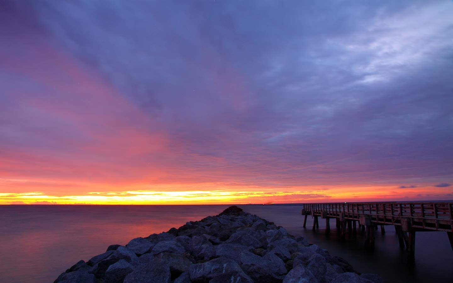 South Pointe Park Jetty Sunset