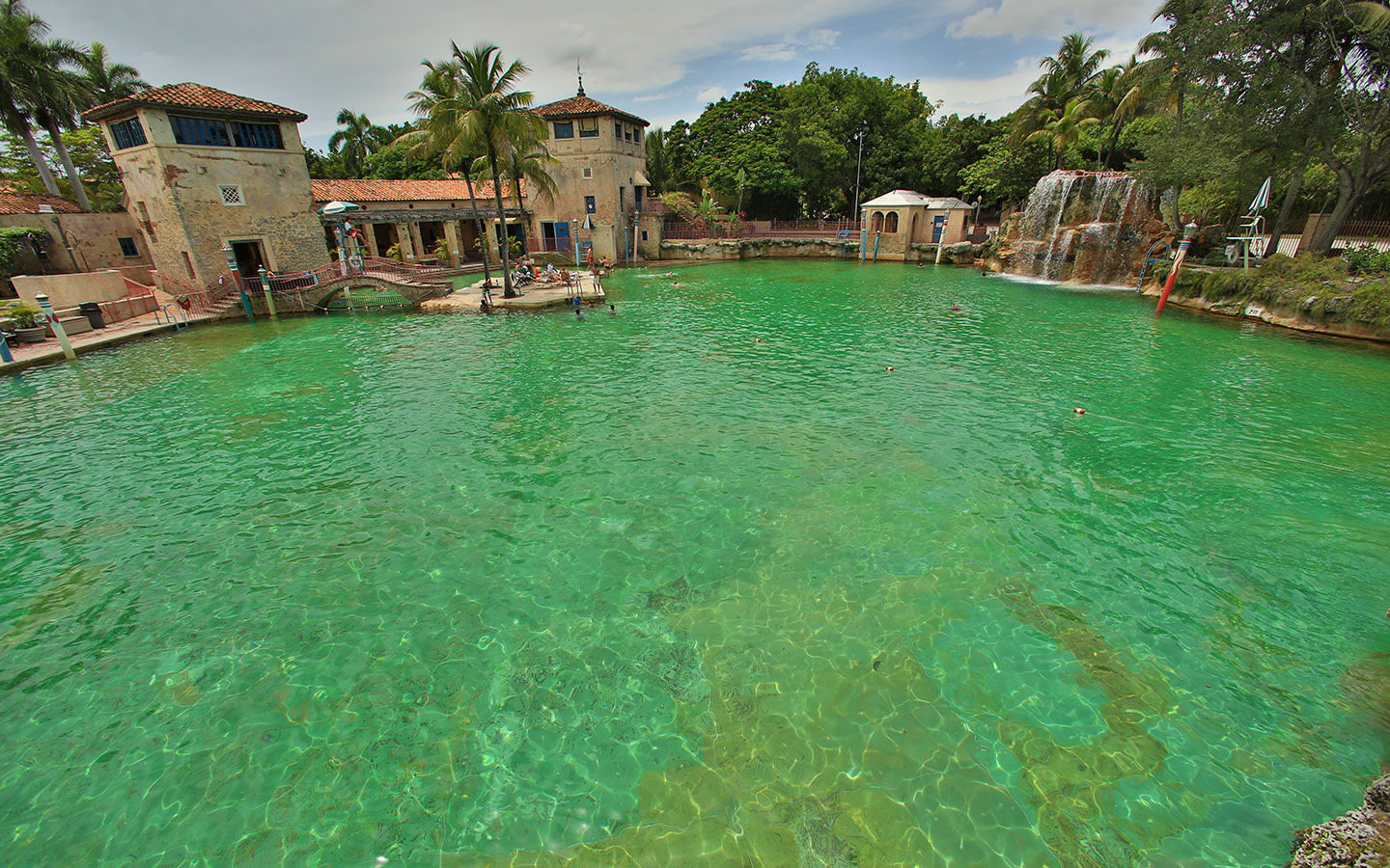 Venetian Pool waterfall