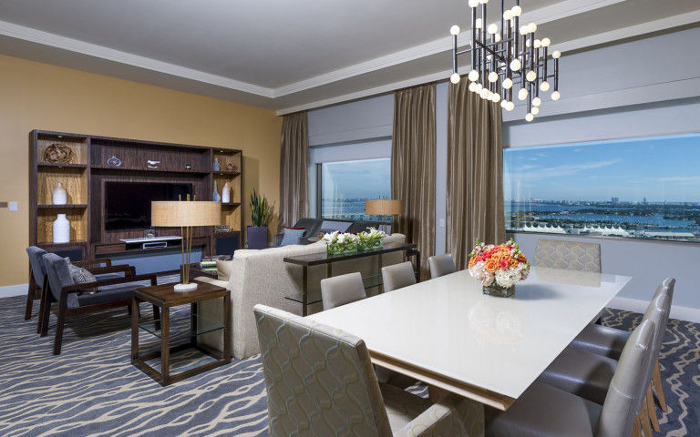 Remote Working from Luxury Waterfront Suite