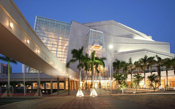 exterior of Adrienne Arsht Center