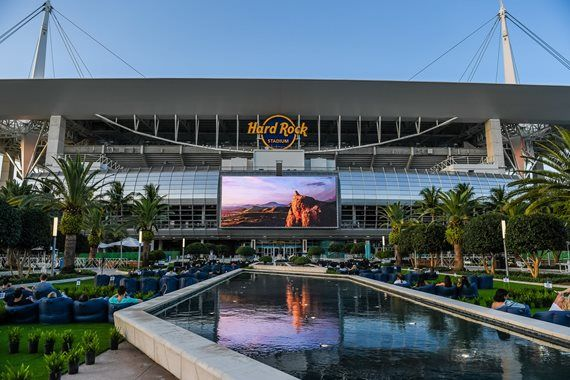 open air theater at Hard Rock Stadium