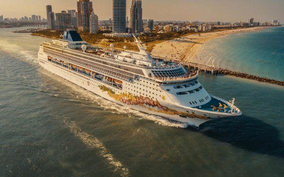 Cruise Ship Leaving PortMiami