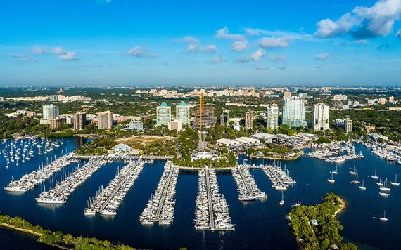 Coconut Grove aerial view