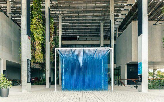blue art installation at Perez Art Museum Miami