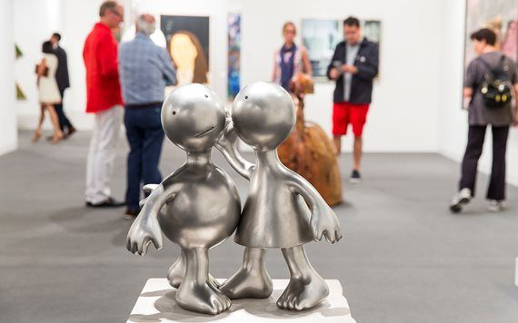 sculpture at gallery during Art Basel Miami Beach
