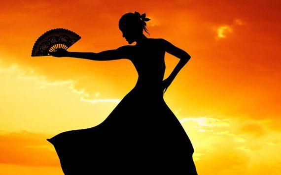 latin dancer at sunset