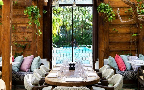 Brunch with a Pool View at Cecconi's