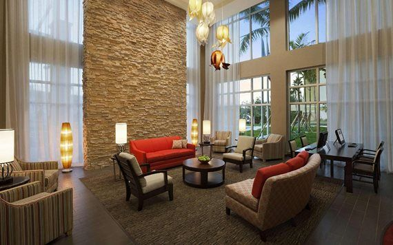 lobby of Cambria Suites