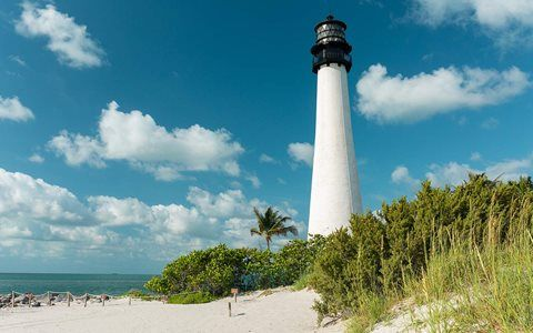 Beach Dia em Key Biscayne E Virginia Key