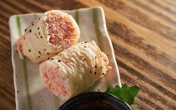butter crab rolls at Pubbelly Sushi