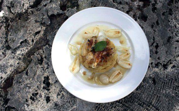 Lychee dish at Redlander Restaurant