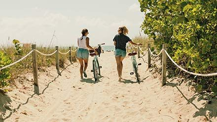 South Beach In bici