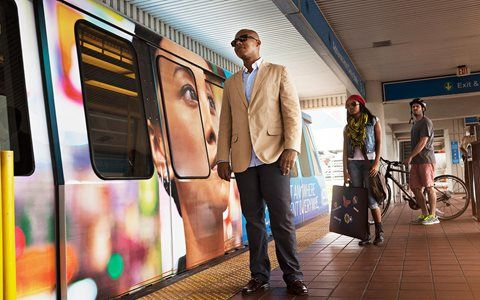 Sich mit Miami fortbewegen Metromover