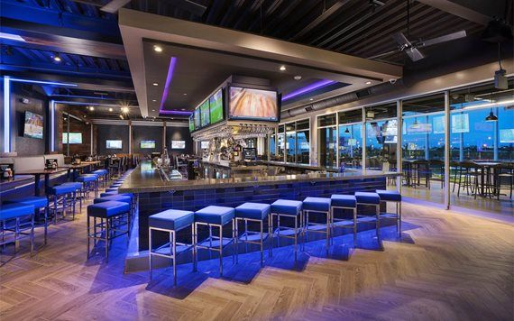 Bar area at Topgolf