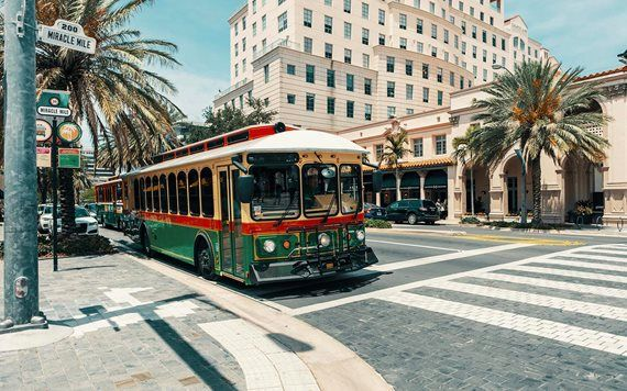 Free Trolley in Coral Gables