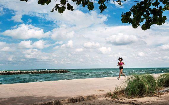 Jogger en el Beach