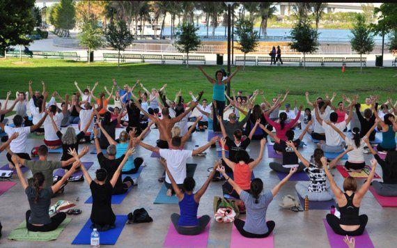 Yoga at Tina Hills Pavillion in Bayfront Park