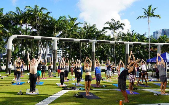 Free Yoga at New World Center