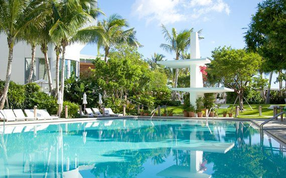 Miami Edition Pool original diving platform