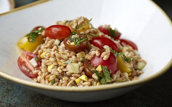 Vista Quinoa salad with heirloom tomatoes