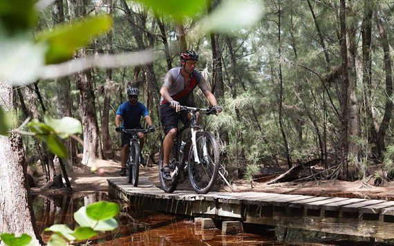 Mountain biking at Oleta River State Park
