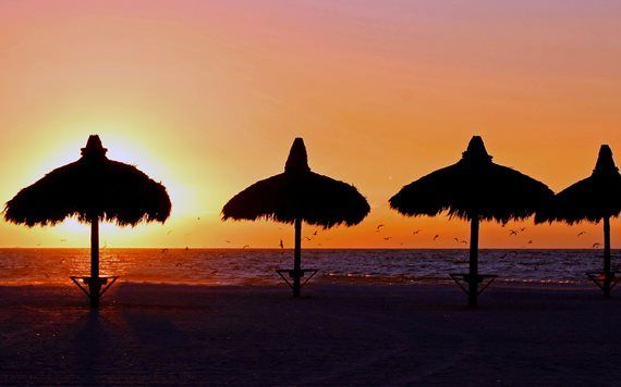 Sunset in Virginia Key Beach