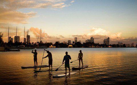 Paddleboard y windsurf
