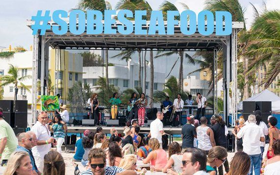 Stage at the South Beach Seafood Festival