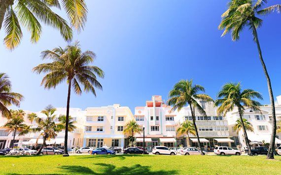 colorful art deco buildings on ocean drive