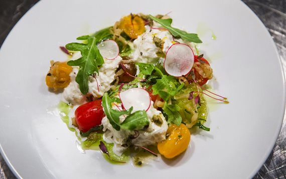 Burrata at Scarpetta by Scott Conant