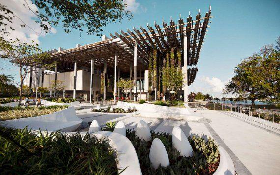 outdoor patio at Perez Art Museum