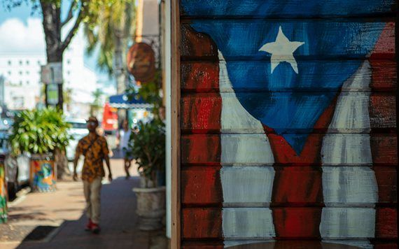 Cuban flag painted on wall