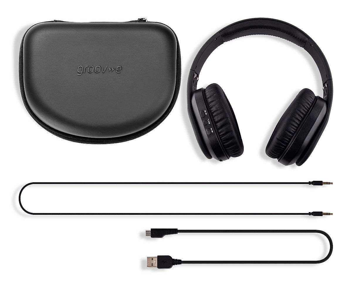 Box Contents • Headphones • EVA Storage Case • Charging Cable • Audio Cable • Instruction Guide