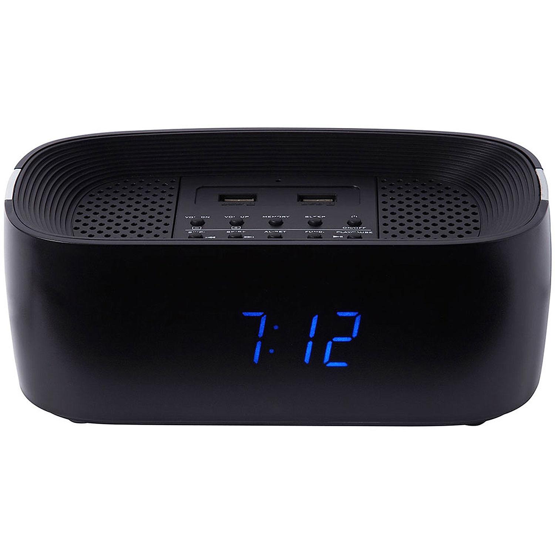 Groov-e Bluetooth Wireless Playback Alarm Clock Radio Speaker