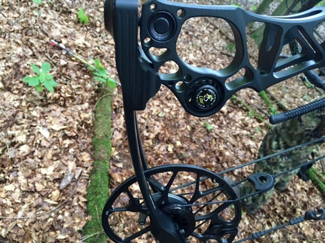 """Stabilisatoren verringern die Vibration und machen den Bogen """"leise"""" und angenehm zu schießen. Für Bogenjäger ein großes Thema."""