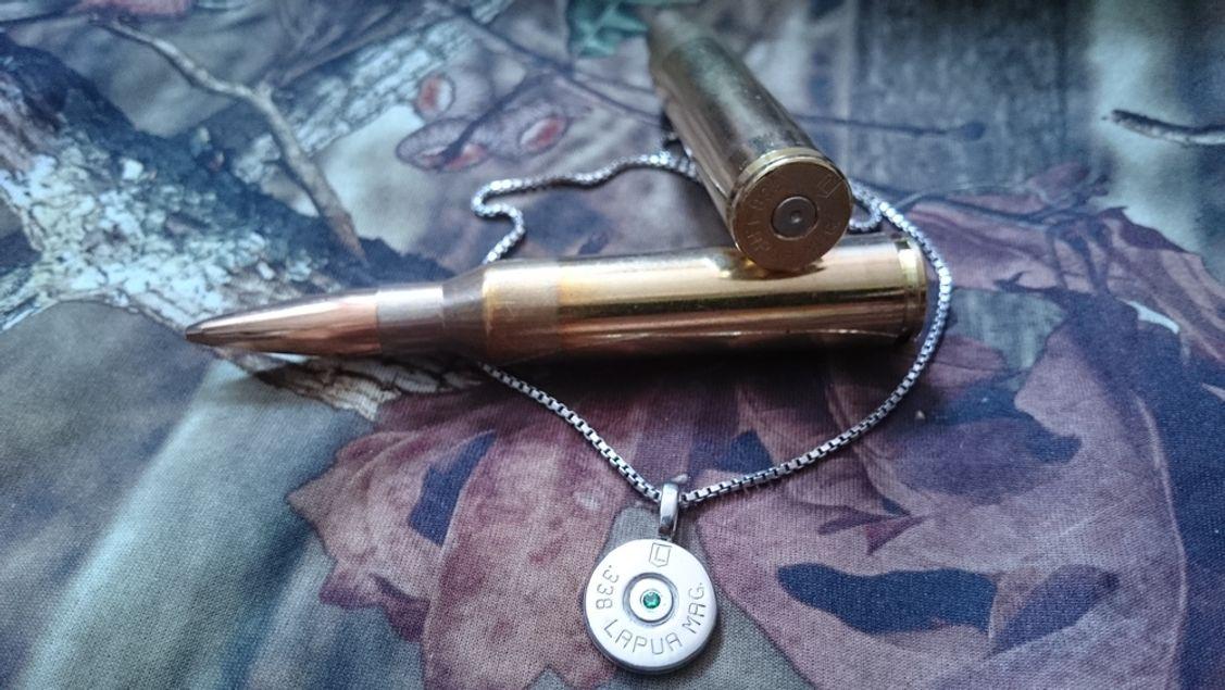 Mein persönliches Erinnerungsstück aus einem .338 Lapua Magnum Hülsenboden