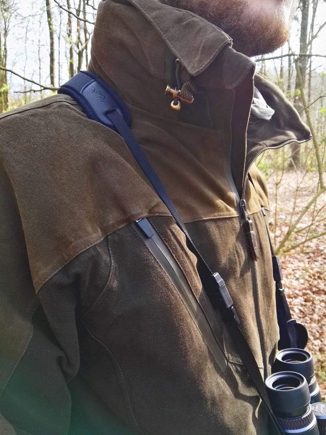 Die Jacke lässt sich gut bis kurz über dem Kinn zuziehen.