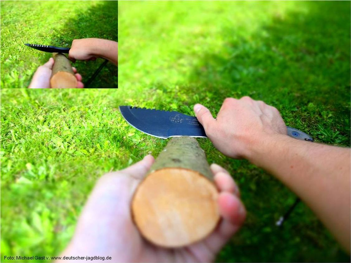 Holzbearbeitung mit dem Tom Brown Tracker Knife