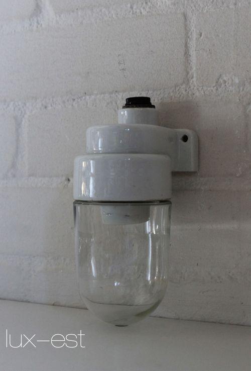 'TRIER XS 90°' Bauhaus Design Lampe Porzellan Vintage Loft