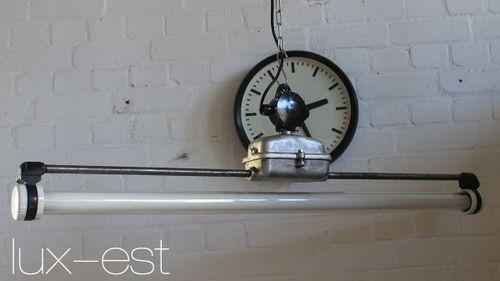 'WERDAU RAW II' Neon Werkstatt Industrie Design Lampe Vintage