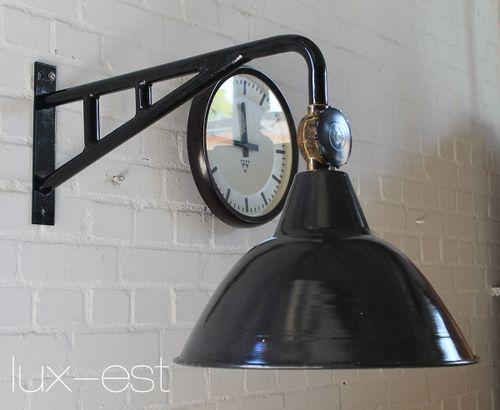'LEVIN RIESA M I' Ausleger Fabrik Lampe Industrie Design Vintage