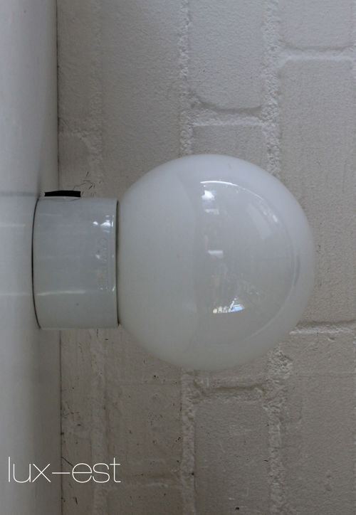 'BERLIN S OPAL' Bauhauslampe Wandlampe Industrie Lampe Opalglas