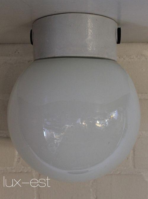 'BERLIN L OPAL I' Bauhaus Design Lampe Opalglas Porzellanlampe