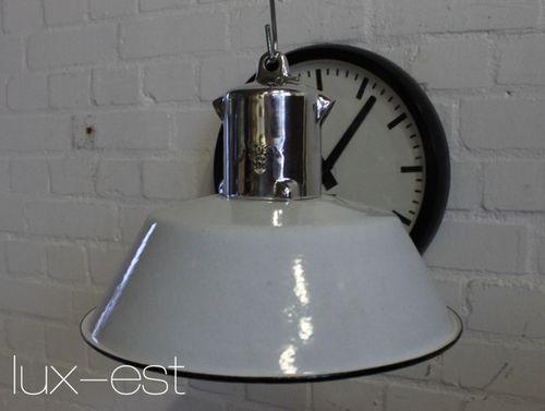 'JENA POLIERT S' Fabriklampe Industrie Design Lampe Hochglanz