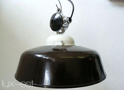 'APOLDA ICE' Industriedesign Fabriklampe Bakelit Porzellan Glas
